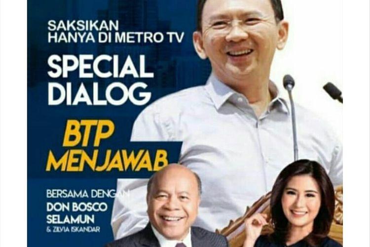 Ahok Akan Menjadi Host Di Salah Satu Stasiun TV Swasta, Benarkah ?