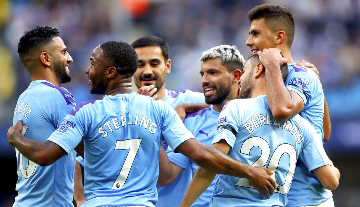 Man City Pesta Gol Melawan Brighton 4 Gol Tanpa Balas